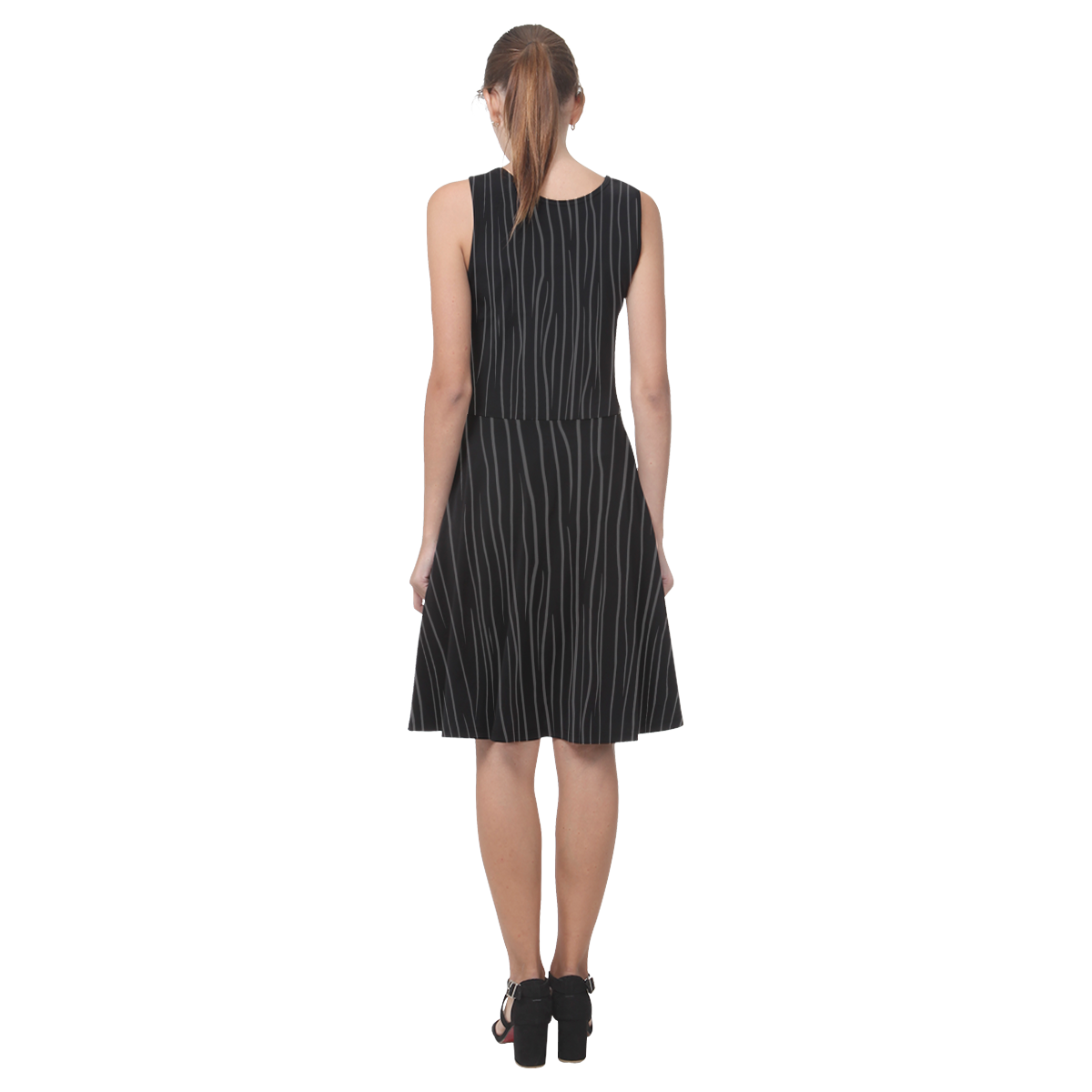 Gothic Stripes Atalanta Casual Sundress(Model D04)