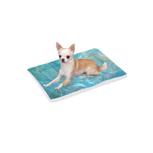 """Frozen Ice Blue Fractal Pet Bed 24""""x13"""""""