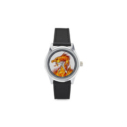 dragon_fair1 Kid's Stainless Steel Leather Strap Watch(Model 208)