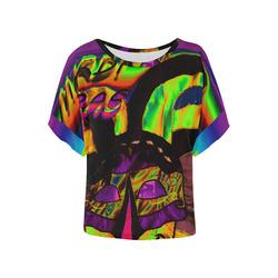 NEONHEARTY MARDI Women's Batwing-Sleeved Blouse T shirt (Model T44)