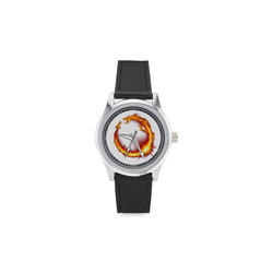 Dragon_Circ_NT Kid's Stainless Steel Leather Strap Watch(Model 208)