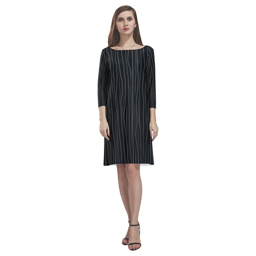 Gothic Stripes Rhea Loose Round Neck Dress(Model D22)