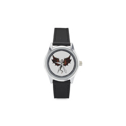dragon_multicolored Kid's Stainless Steel Leather Strap Watch(Model 208)