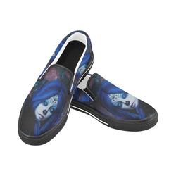 Sugar Skull Girl Slip-on Canvas Shoes for Kid (Model 019)