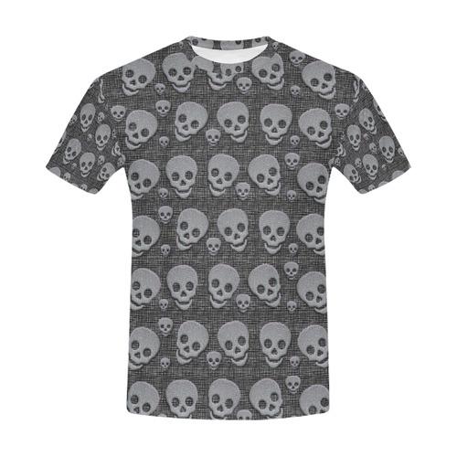 SKULLS THE BEST All Over Print T-Shirt for Men (USA Size) (Model T40)