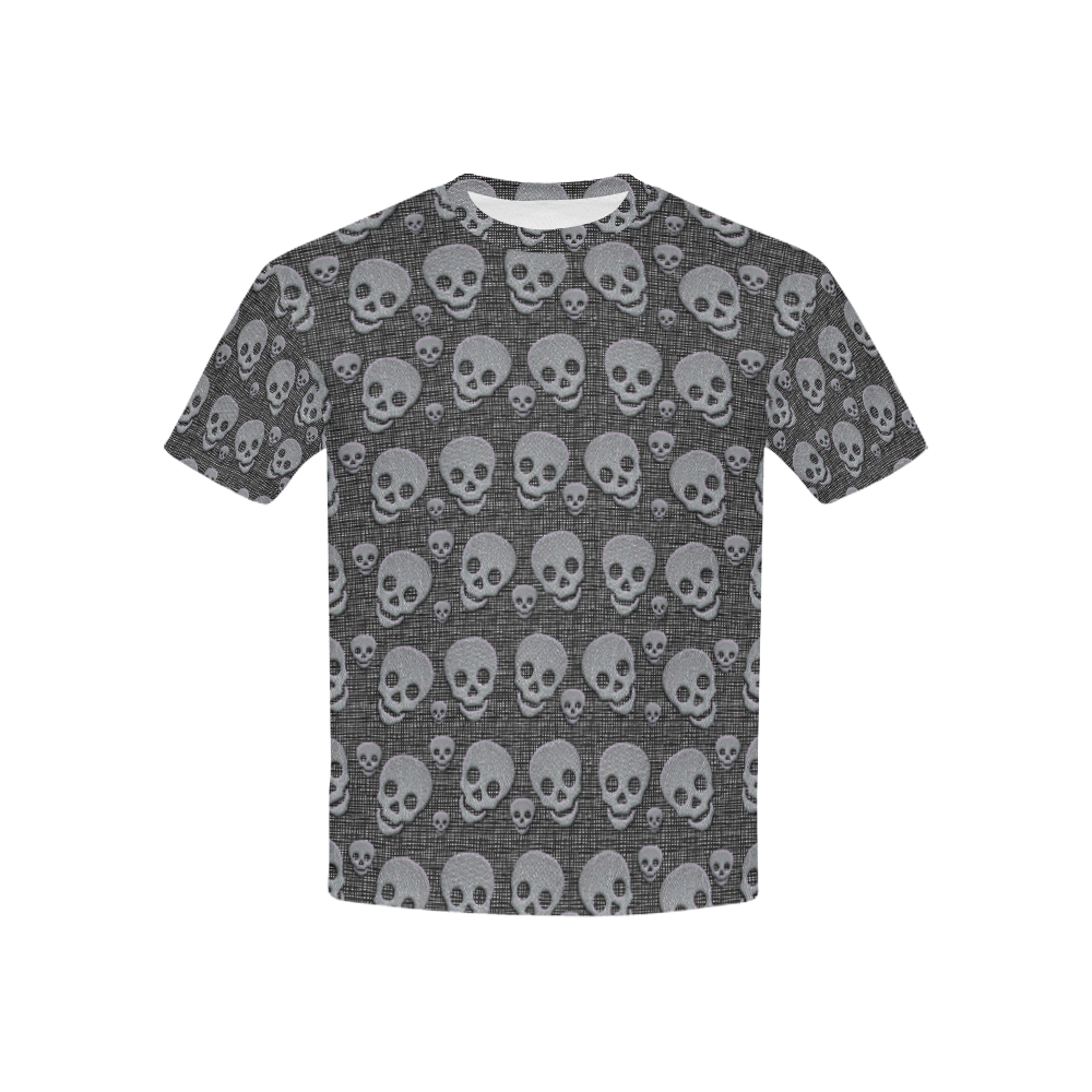 SKULL  METAL Kids' All Over Print T-shirt (USA Size) (Model T40)