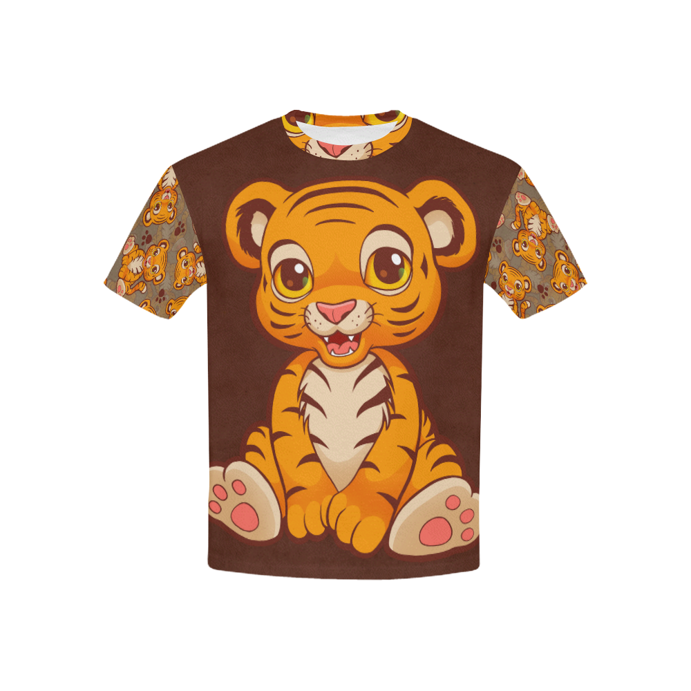 Lil Tiger Kids' All Over Print T-shirt (USA Size) (Model T40)