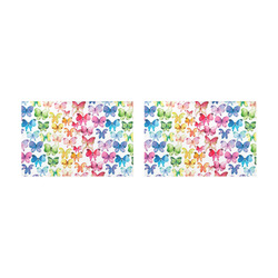 Rainbow Butterflies Placemat 12'' x 18'' (Two Pieces)