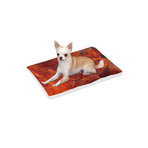 """Swirly Love in Deep Red Pet Bed 24""""x13"""""""