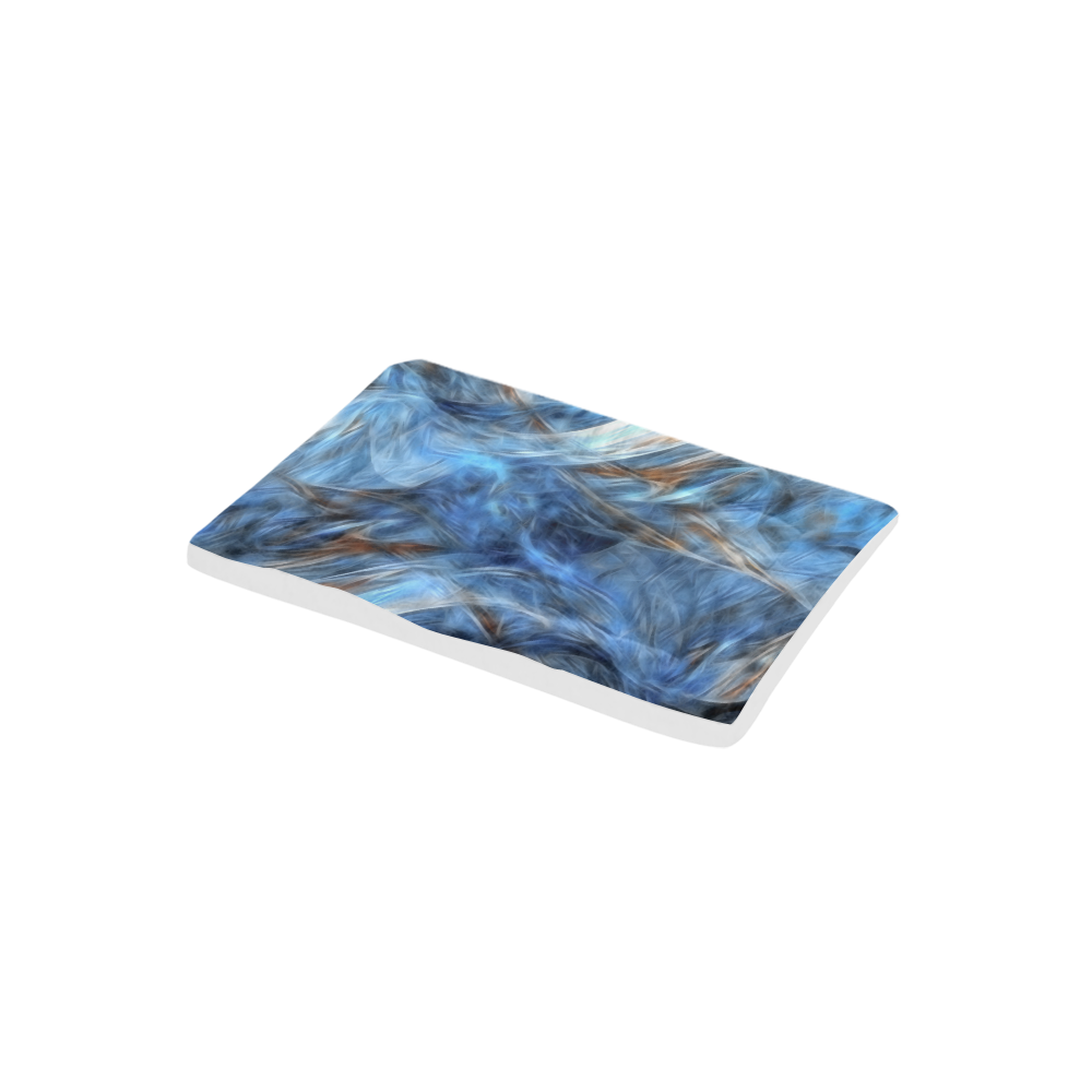 "Blue Colorful Abstract Design Pet Bed 24""x13"""