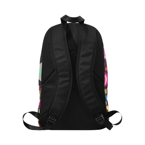 cute heart backgrounds Fabric Backpack for Adult (Model 1659)