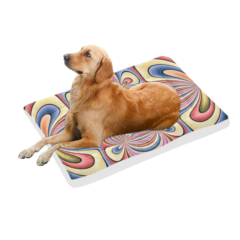"""Pastel Shades Flower Ornament Pet Bed 54""""x37"""""""