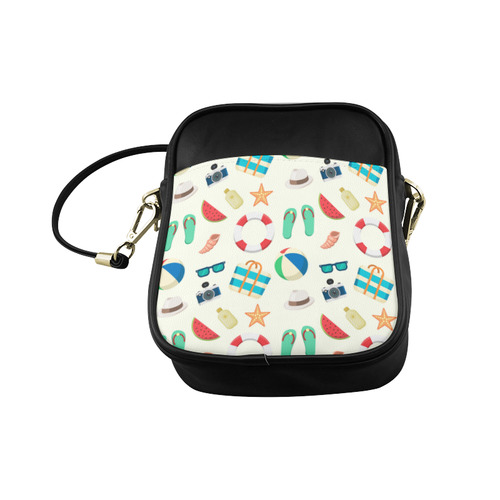 Summer Beach Fun Watermelon Camera Flipflops Sling Bag (Model 1627)