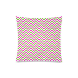 "Pink Green White Chevron Custom Zippered Pillow Case 20""x20""(One Side)"