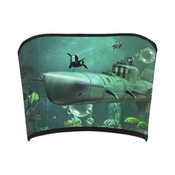 Awesome submarine with orca Bandeau Top