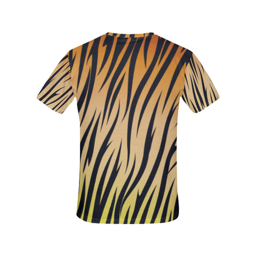 TIGER All Over Print T-Shirt for Women (USA Size) (Model T40)