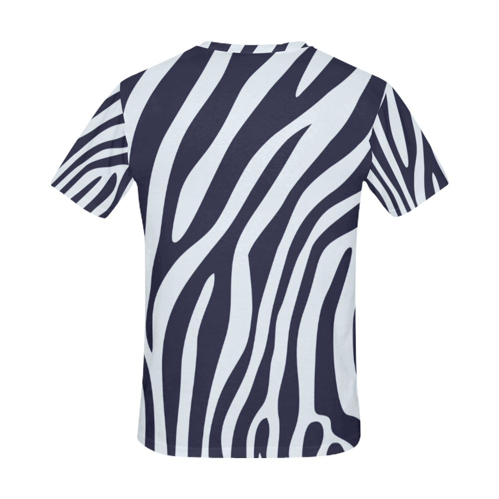 ZEBRA All Over Print T-Shirt for Men (USA Size) (Model T40)