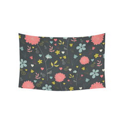 """Flowers Cotton Linen Wall Tapestry 60""""x 40"""""""