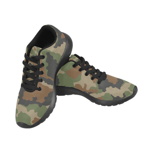 CAMOUFLAGE WOODLAND Men's Running Shoes (Model 020)