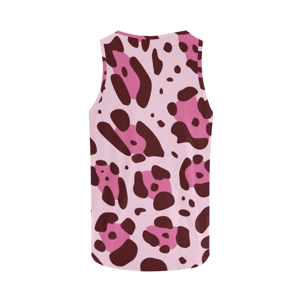 ART CAMOUFLAGE PINK All Over Print Tank Top for Women (Model T43)
