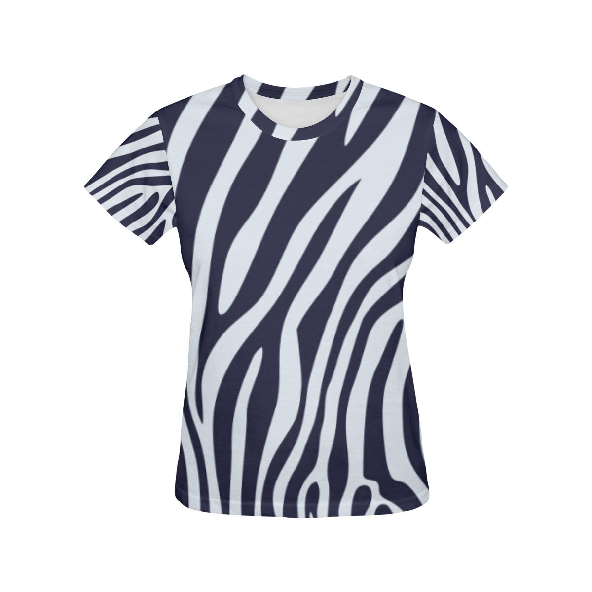 ZEBRA All Over Print T-Shirt for Women (USA Size) (Model T40)