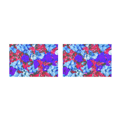 closeup flower texture abstract in blue purple red Placemat 12'' x 18'' (Two Pieces)