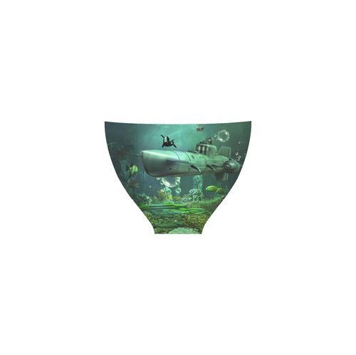 Awesome submarine with orca Custom Bikini Swimsuit (Model S01)