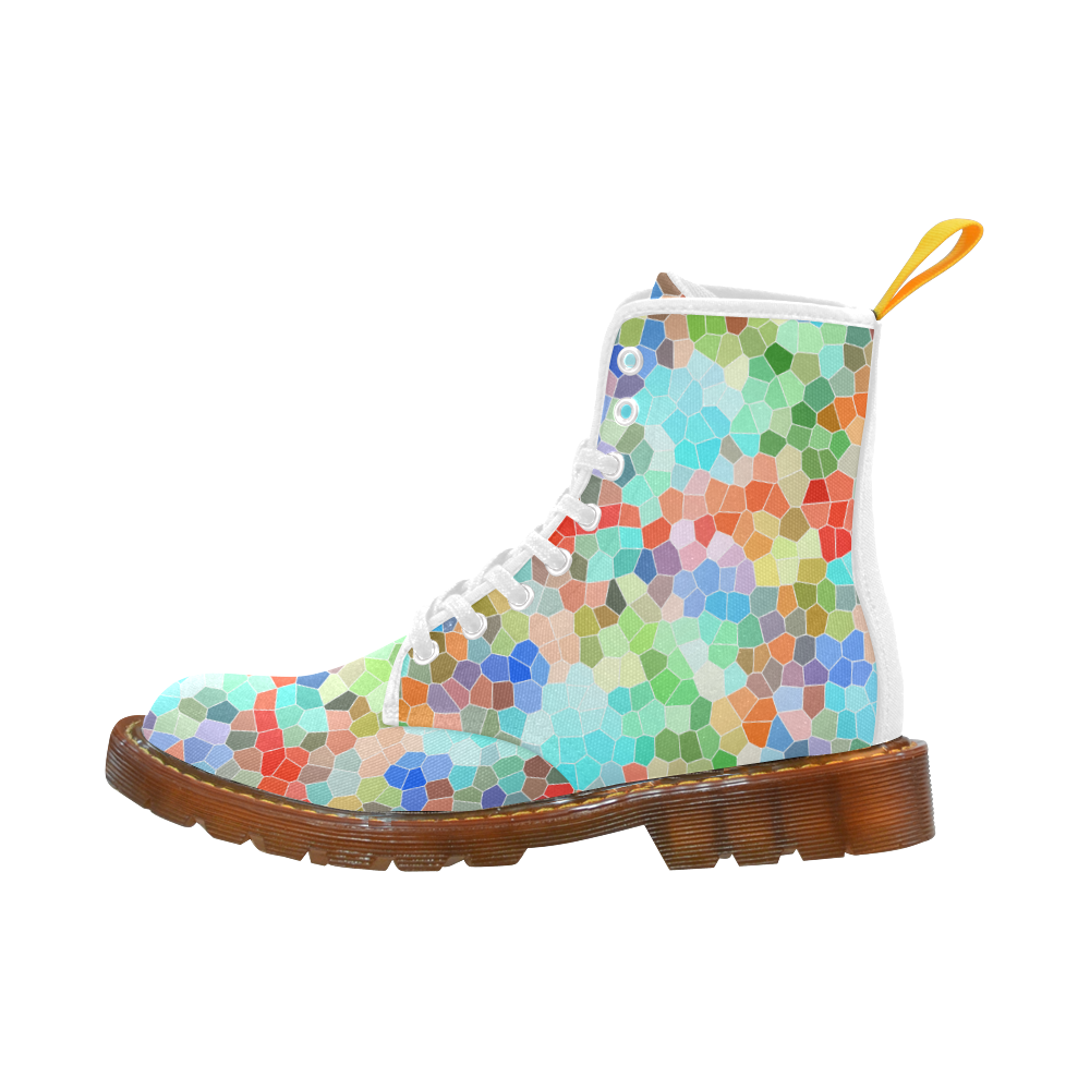 Colorful Mosaic Martin Boots For Men Model 1203H