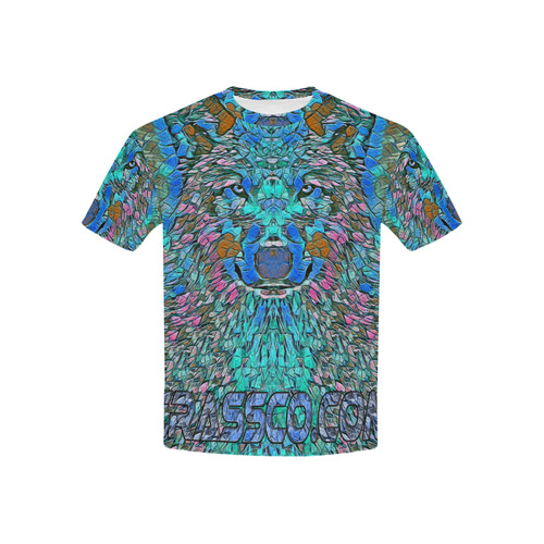 BLUE WOLF ART Kids' All Over Print T-shirt (USA Size) (Model T40)