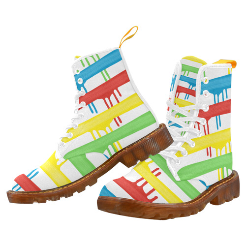Rainbow Strokes of the Brush Martin Boots For Women Model 1203H