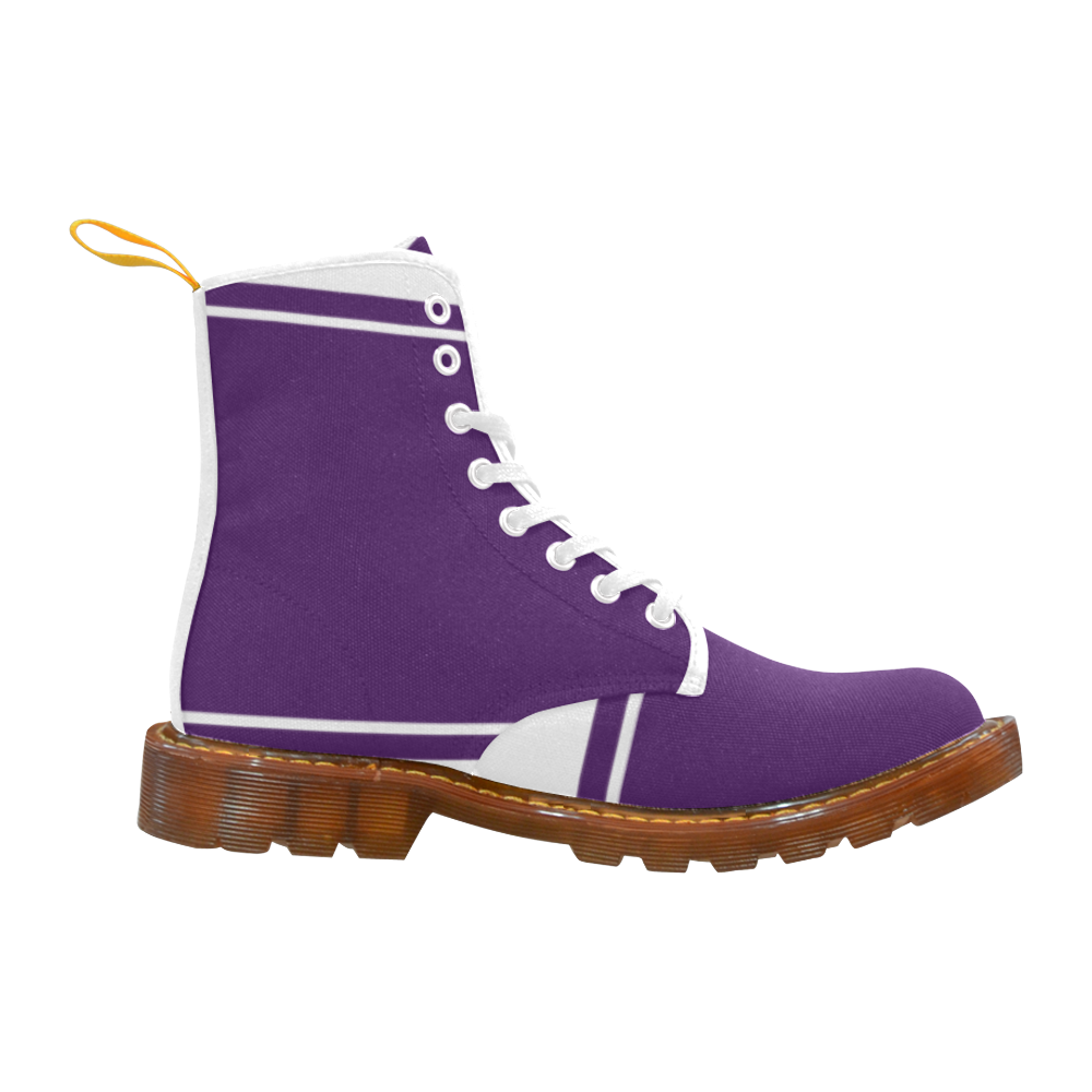 Dark Lilac Ribbon Martin Boots For Women Model 1203H