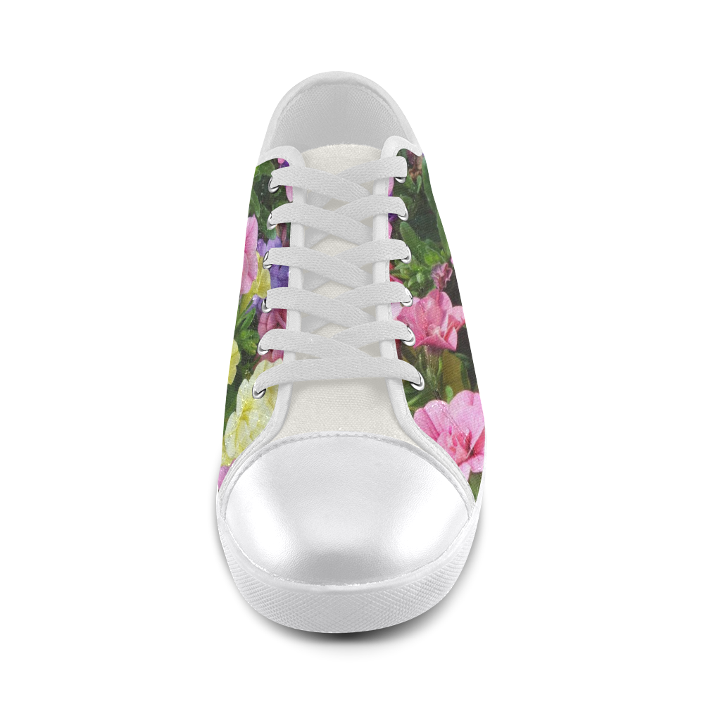 lovely flowers 17 by JamColors Women's Canvas Shoes (Model 016)