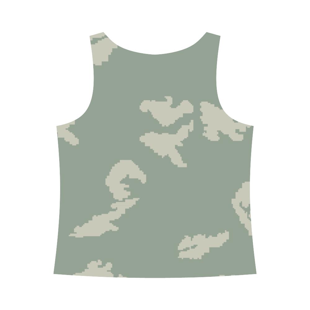 CAMOUFLAGE SKULL All Over Print Tank Top for Women (Model T43)