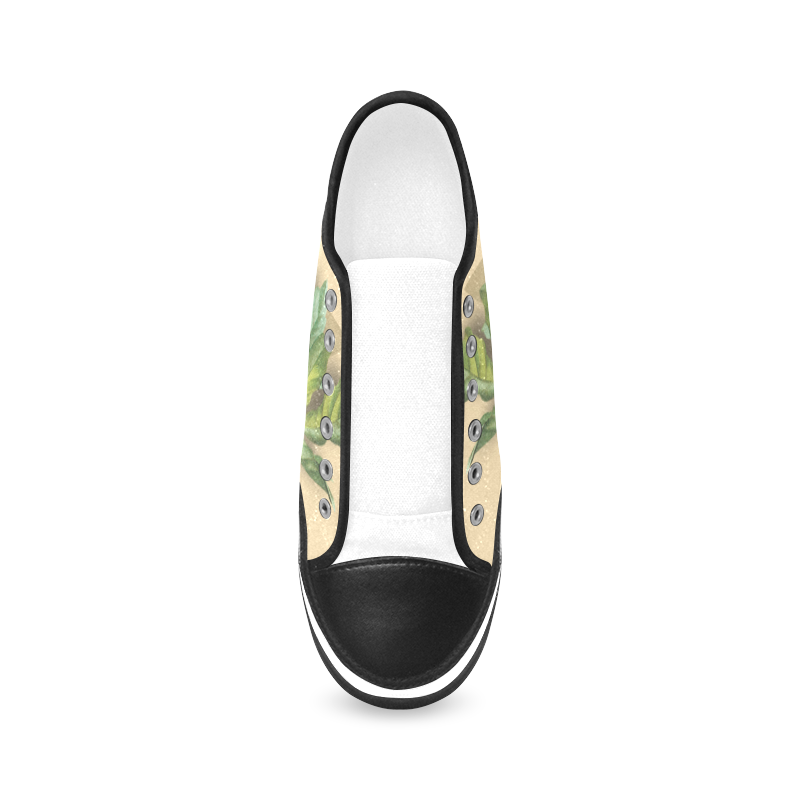 Kamel-Gloria Sanchez Women's Canvas Zipper Shoes (Model 001)