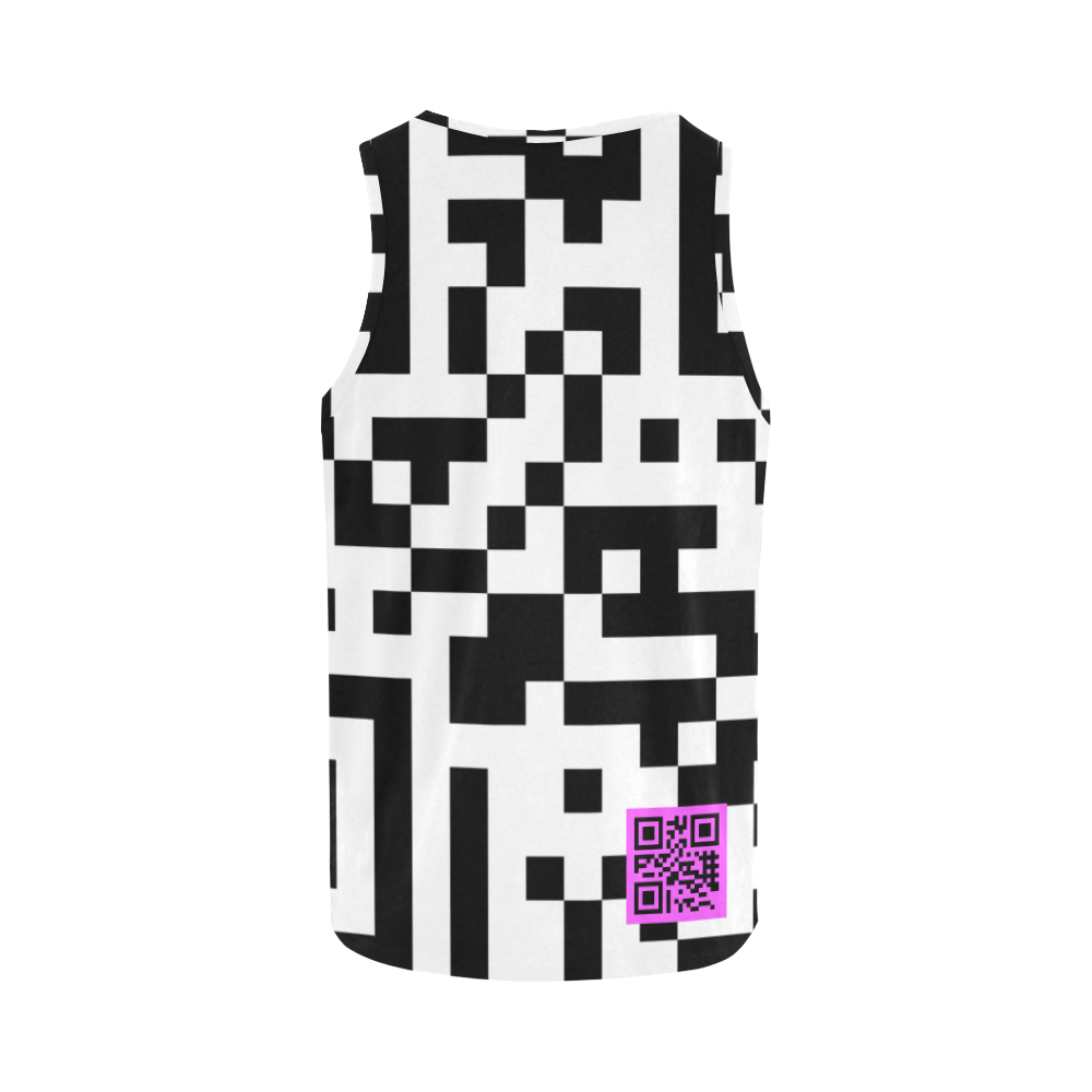 QR-CODE PINK All Over Print Tank Top for Women (Model T43)