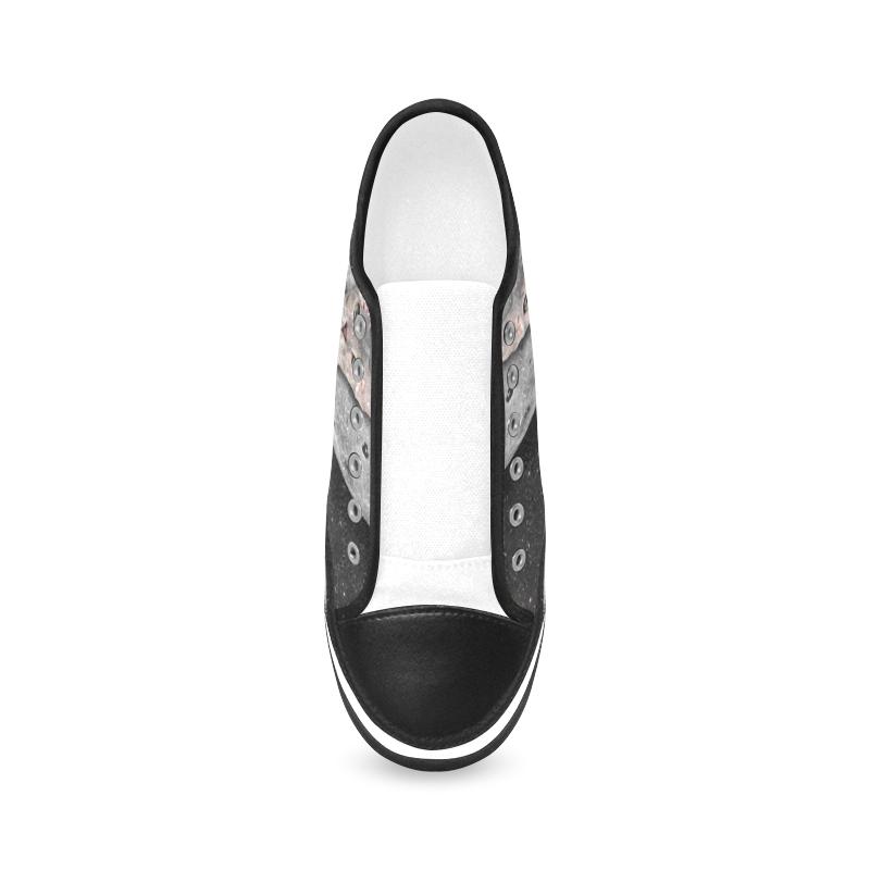 Collage-The Ca-Gloria Sanchez Women's Canvas Zipper Shoes (Model 001)