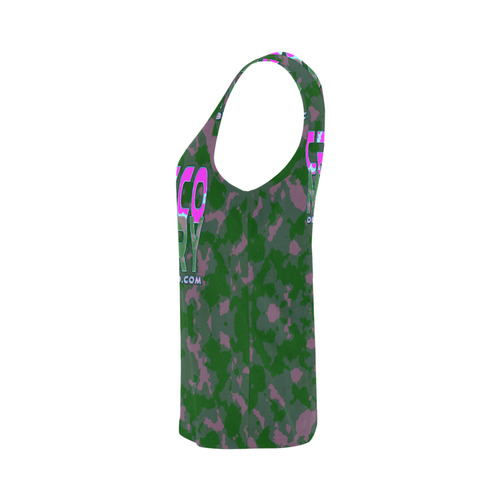 CAMOUFLAGE CRASSCO MILITARY All Over Print Tank Top for Women (Model T43)