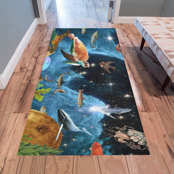 collage_heaven and Earth_ gloria sanchez1 Area Rug 7'x3'3''
