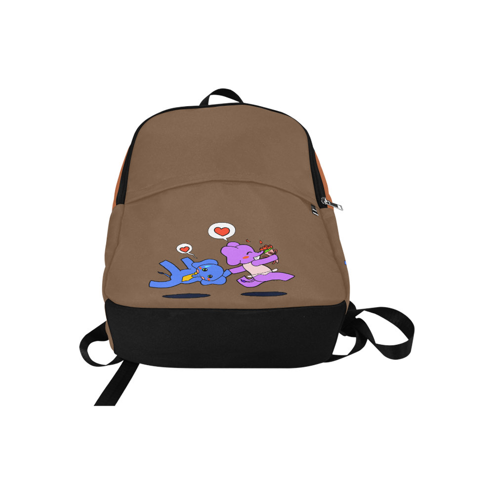 Elephant Love Fabric Backpack for Adult (Model 1659)