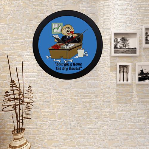 Executive Doodle Circular Plastic Wall clock