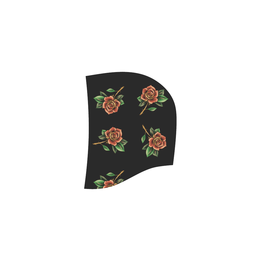 Tattoo Roses All Over Print Sleeveless Hoodie for Women (Model H15)