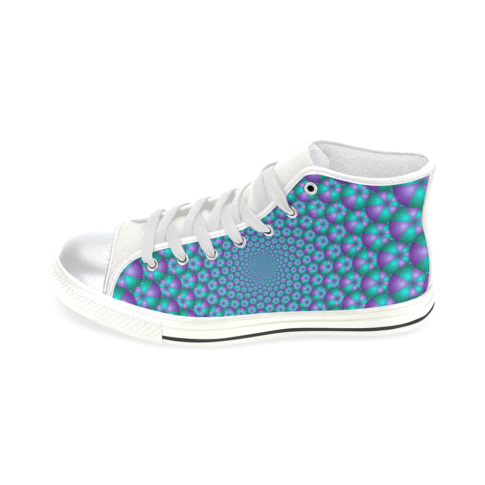 Spiral balls 001 High Top Canvas Women's Shoes/Large Size (Model 017)