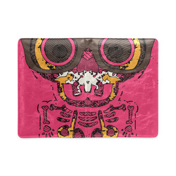funny skull and bone graffiti drawing in orange brown and pink Custom NoteBook A5