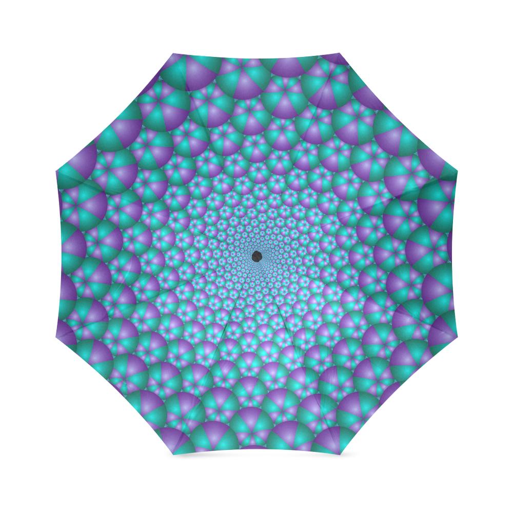 Spiral balls 001 Foldable Umbrella (Model U01)