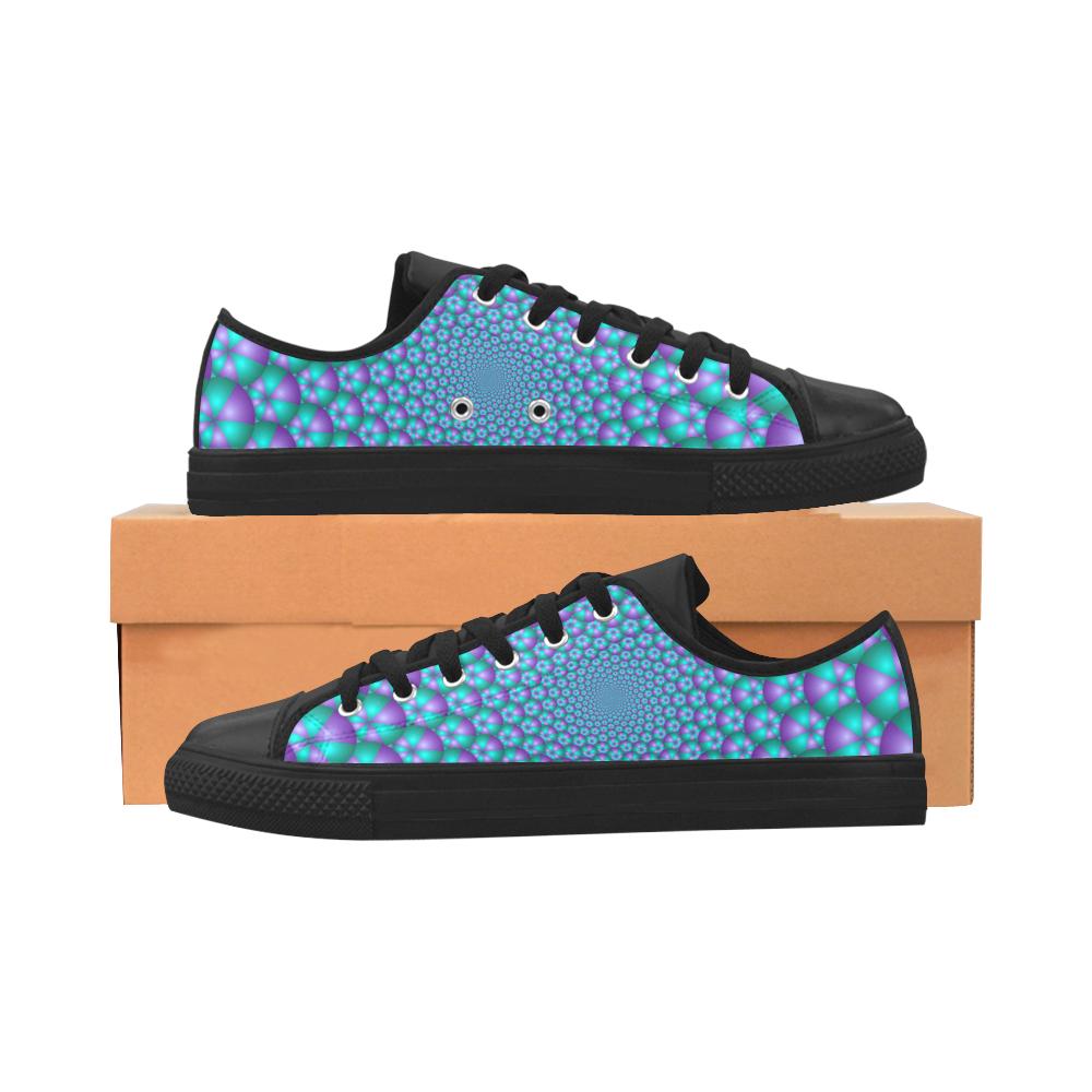 Spiral balls 001 Aquila Microfiber Leather Women's Shoes/Large Size (Model 031)
