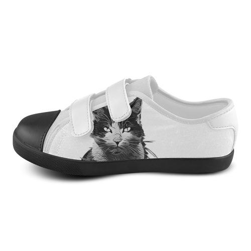 SWEET KITTY Velcro Canvas Kid's Shoes (Model 008)