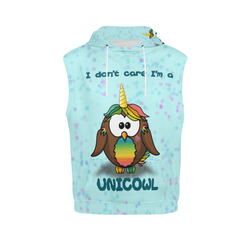 unicowl All Over Print Sleeveless Hoodie for Women (Model H15)