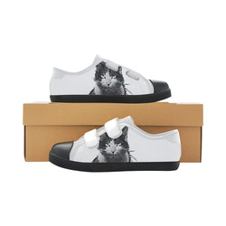 SWEET KITTY Velcro Canvas Kid's Shoes (Model 008)