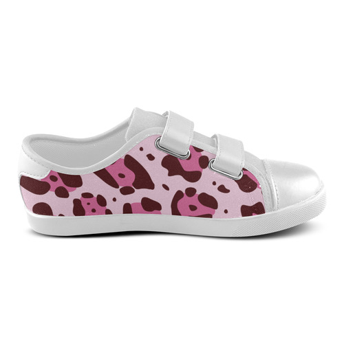 TEXTURE ART CAMOUFLAGE Velcro Canvas Kid's Shoes (Model 008)