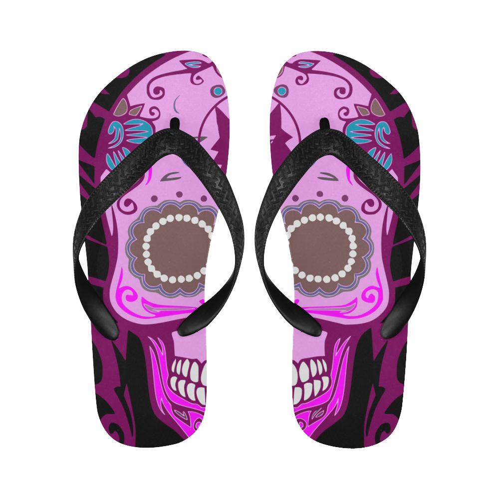 SKULL PINKY Flip Flops for Men/Women (Model 040)